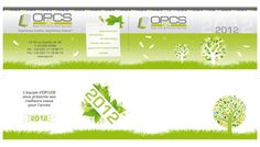 Création d'une carte de vœux - Client : OPCS Paris. Format 210x100mm.