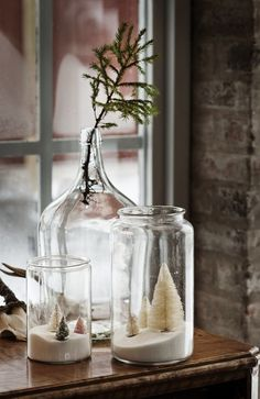 Simple Christmas Decorating in jars