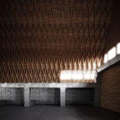 "Ferme Gut Garkau, 1923 - 1926 > Hugo Häring - ∈ Der Ring ⇿ Hugo Häring était considéré comme un architecte ""organique"". Sustainable Architecture, Architecture Details, Interior Architecture, Interior Design, Concrete Posts, Timber Roof, Agricultural Buildings, Timber Structure, Roof Detail"