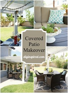 Covered Patio Makeover DIY Inspired shared from #HomeMattersParty