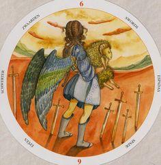 Six of Swords - Circle of Life Tarot by Maria Distefano