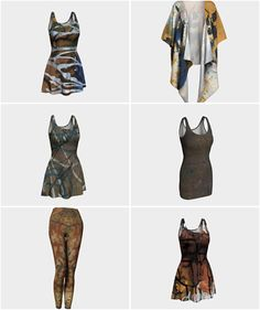 A selection of apparel available at paperwerks.etsy.com in fall colors. Click on…