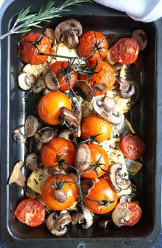 Roasted medley: Tomato, Mushroom, Garlic and Feta
