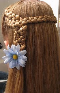 Super cute idea for a little girl with long hair. Can't wait to pass it onto my sisters or have a little girl of my own!