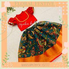 Long Frocks For Kids, Skirts For Kids, Kids Frocks, Kids Saree, Kids Lehenga, Kids Indian Wear, Kids Ethnic Wear, Girls Frock Design, Baby Dress Design