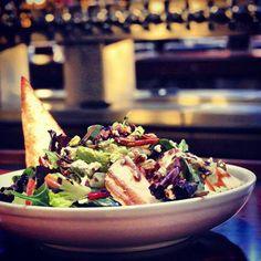 Pear and bleu cheese salad from @Barbara Anders Louie #yummmm
