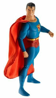 "First Appearance Series 2: Superman Action Figure by DC Direct. $26.49. Superman, the world's first super-hero, made his debut in 1938's ACTION COMICS #1! Celebrate this landmark first appearance with a stunning action figure representing the MAN OF STEEL'S original costume! The SUPERMAN ACTION FIGURE measures approximately 6 7/8"" tall, features multiple points of articulation and a cloth cape. This figure includes a base and a mini-reproduction of the comic in which the charact..."