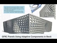 GFRC Panels Using Adaptive Components in Revit Revit Architecture, Organic Architecture, House Window Design, Revit Family, Portland Cement, Modeling Techniques, Collor, Reinforced Concrete, Building Materials