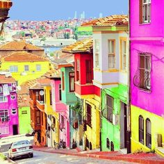 16 The Most Beautiful Sights In The World Not all of them but some look cool to try & visit (Balat – Istanbul, Turkey)