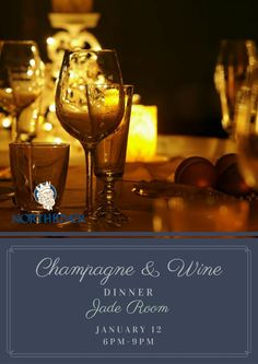 Come join us on Thursday, January 12, in the Jade Room, Golf Club, to Bubble in the New Year. Champagne & Wine pairing with hors d' oeuvres, salad, intermezzo, entree, and dessert. Limited seating.  For reservations, please contact Club Concierge at  205-343-4581, or northriver@northriveryc.com.