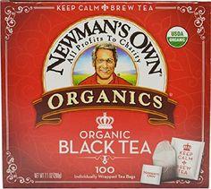 Newman's OwnOrganics Royal Tea, Organic Black Tea, 100 Individually Wrapped Tea Bags, Boxes (Pack of Tea Mix Recipe, Chai Tea Recipe, Latte Recipe, Best Tea Brands, Best Matcha Tea, Vanilla Chai Tea, Best Mixed Drinks, Best Herbal Tea, Black Tea Bags