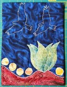 Stitch Along Sunday Art Quilt - A Tutorial On Facing Quilts - A Technique Tuesday Post
