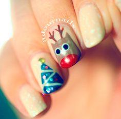 Simple Christmas #nailart #adournails