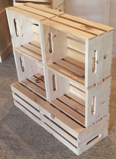 rustic wood stacking crate retail display store grocery