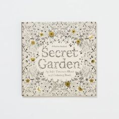 Secret Garden Coloring Book in House+Home DECORATING Cards + Crafts at Terrain