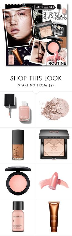 """#Pack and Go Tokyo Beauty Routine"" by nikkisg ❤ liked on Polyvore featuring beauty, Chanel, NARS Cosmetics, Givenchy, MAC Cosmetics, Elizabeth Arden, Perricone MD, Clarins, tokyo and Packandgo"