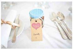 Chutney wedding favour/place setting