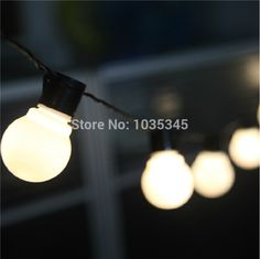 Cheap lights lights flashing, Buy Quality light sweet directly from China lighting ceiling light Suppliers: Novelty 5CM big size 38 ball 10M LED String Black wire LED Starry Lights Christmas Wedding indoor outdoor Decor String L