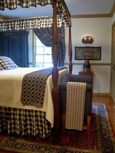 Eye For Design: Decorating Colonial/Primitive Bedrooms