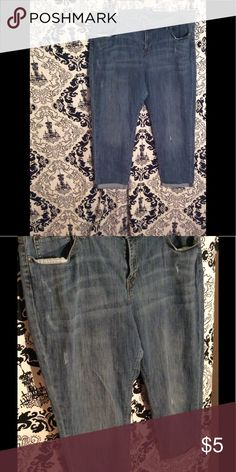 """Boyfriend Jeans Distressed & Used Condition Boyfriend Jeans Inseam approximately 26"""" Folded bottom cuffs  Gap Jeans Plus Size GAP Jeans Boyfriend"""
