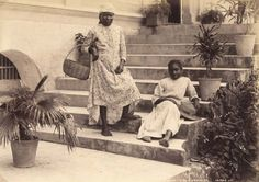 Jamaica as it used to be A relaxed pose, captured by the Valentine photographic studio. c.1870s