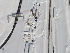 Aerial photos of the storm