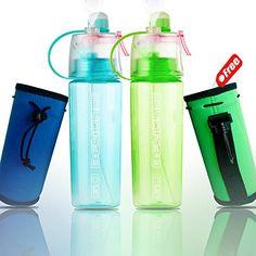 22e106649e Spray Drinking Water Bottle Mister 20 oz BPA Free Gym Cycling Sports  Outdoors FREE Neoprene Koozie