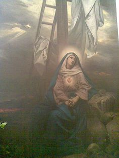 What unimaginable sorrows are felt in the heart of a mother upon witnessing the crucifixion of her only beloved son!