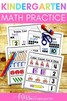 Invite your kindergarten students to practice counting from 0-10 and introduce teen numbers with these printable worksheets. Place them in your math centers to keep students engaged while you work with small groups. Assign them as homework for extra practice or put them out as morning work!