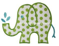 Elephant 2 Applique Design