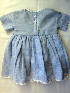 Puppenkleidung-Sommer-KLEID-Vichy-Karo-Handarbeit-NEU-f-groessere-Puppen