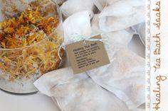 Tea Bath soaks - Homemade Gift Idea