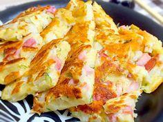 超簡単♡長芋とベーコンのチーズチヂミの画像
