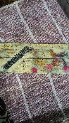 Tablilla decoupage vintage