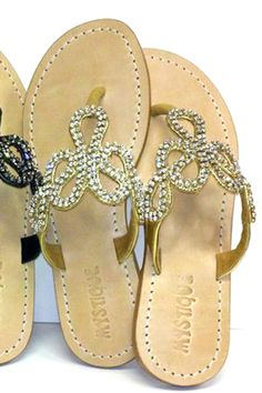 Jeweled Snake Sandal in Gold with Clear Rhinestones