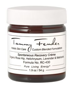 Tammy Fender Spontaneous Recovery Crème, $165; tammyfender.com You'd be hard-pressed to find a person who has tried Tammy Fender's high-end holistic products that isn't obsessed—thanks to years working with celebrity clientele in Hollywood and Palm Beach, she has luxe, plant-based beauty down to a science.   - ELLE.com