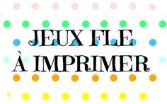 Jeux pour la classe de FLE à imprimer (recopilatoire)