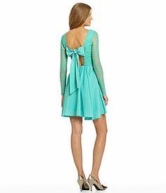 $64 GB BowBack Lace Dress #Dillards