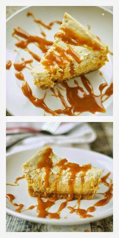Crockpot Browned Butter Pumpkin Cheesecake from Crockpot Gourmet featured on SlowCookerFromScratch.com