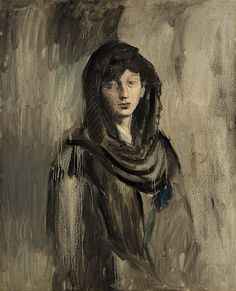 "Fernande with a Black Mantilla ""Fernande à la mantille noire"" (1905) by Pablo Picasso (Solomon R. Guggenheim Museum, New York, NY) - Viewed as part of ""Thannhauser Collection"" at the Guggenheim Museum, NYC, NY 3/1/14"