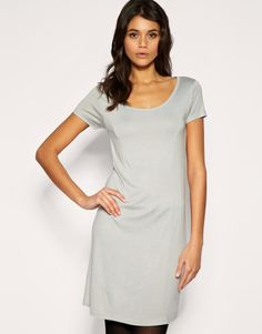ASOS 60s Cute Jersey Shift Dress - Grey / UK 10		£4.00  03/07/2011