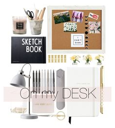"""""""On my DESK"""" by kate0810 ❤ liked on Polyvore featuring interior, interiors, interior design, home, home decor, interior decorating, ESSEY, Design Letters, Kate Spade and Pier 1 Imports"""