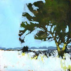 Original acrylic semiabstract landscape painting von PaulBaileyArt, £80.00