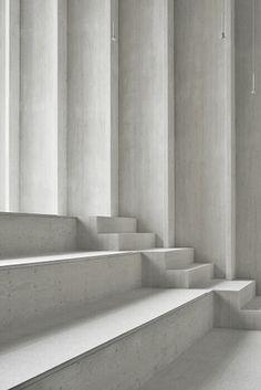 white on white stairs