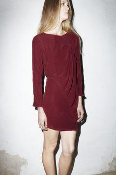 Pomegranate Silk Twist Dress
