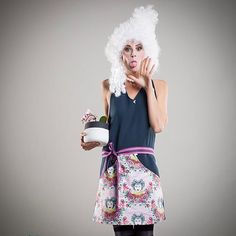 we like this cheeky pic of the loveley model @simonedericks She's wearing our COCO apron have a look at our shop http://www.sheela.cc/shop/schuerze-coco/ #cookwithstyle #vintageinspired #cheekysmile #lilac #sheelahousewiferevolution #apronlovers #whitehair