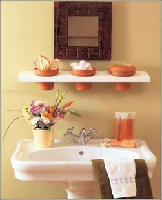 Check Out 50 Useful Bathroom Storage Ideas. Not with standing a small bathroom you have or not, you need some creative storage ideas that suit your interior and the amount of space you own. Creative Bathroom Storage Ideas, Bathroom Vanity Storage, Bathroom Storage Solutions, Small Bathroom Organization, Diy Bathroom, Diy Storage, Downstairs Bathroom, Bathroom Ideas, Bathroom Shelves