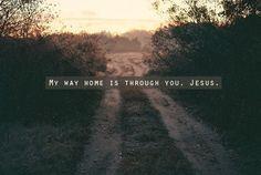 Through Jesus.