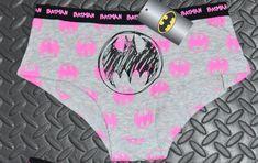 f19e18c8dc44 Batman knickers pink black logo panties women ladies sizes uk 6-20