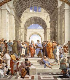 School of Athens, Stanza della Segnatura  Raffaello. 1509  Vatican Museums, Rome